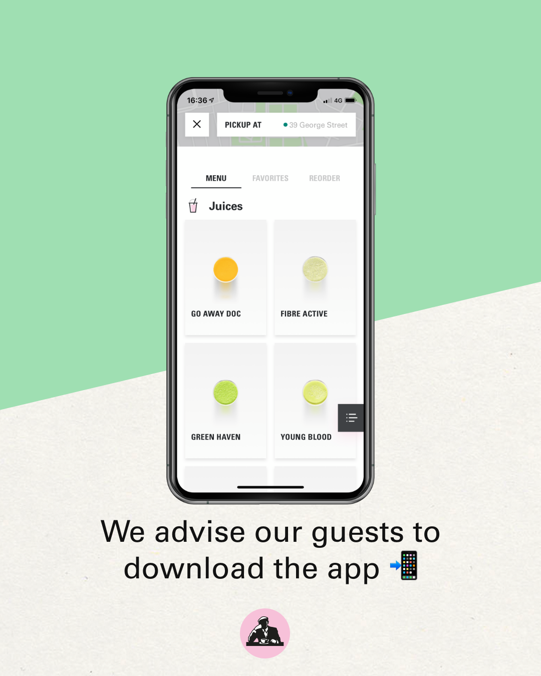 We advise our guests to download the app
