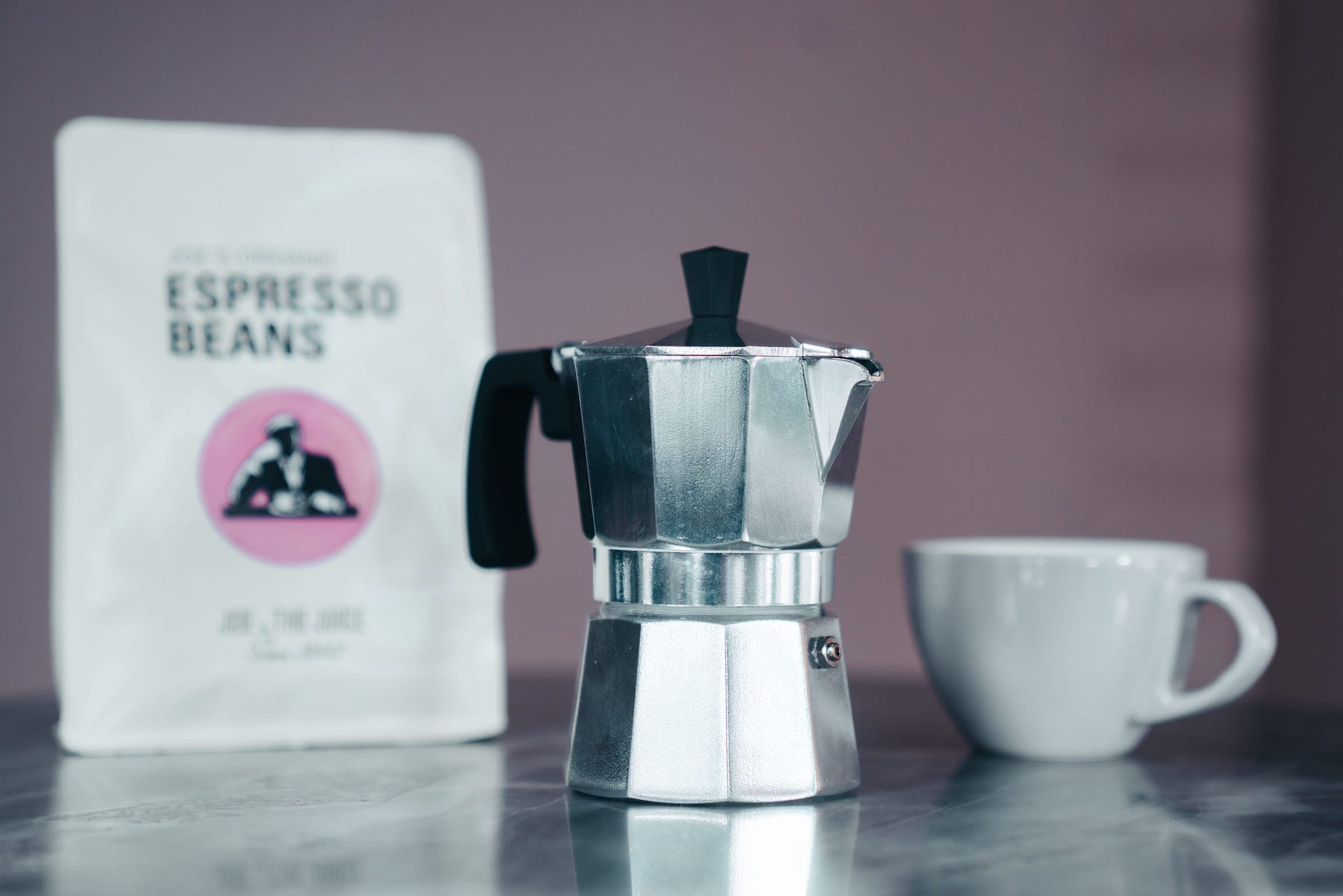 Brewing our coffee on the legendary Bialetti moka pot will get you a dense espresso-like cup of coffee. This little wonder requires no electricity or fancy equipment.