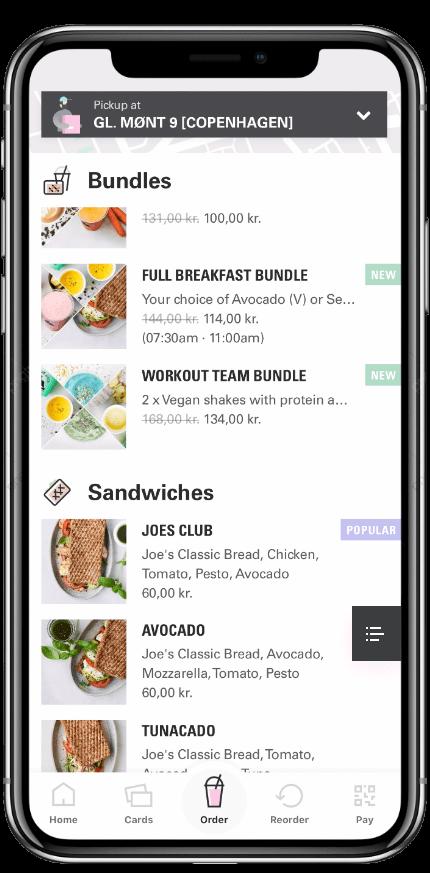 Joe App Pre Order Page