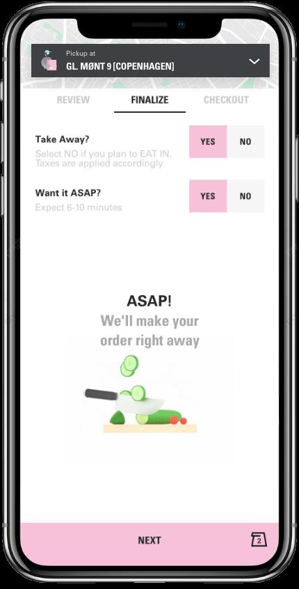 pre ordering on the joe loyalty app