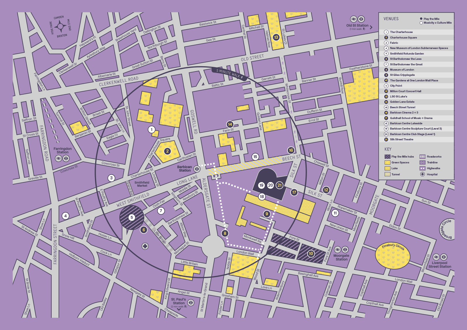 Map of Culture Mile events
