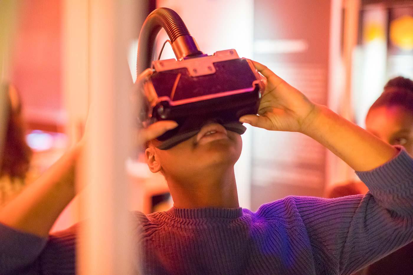 Boy playing VR