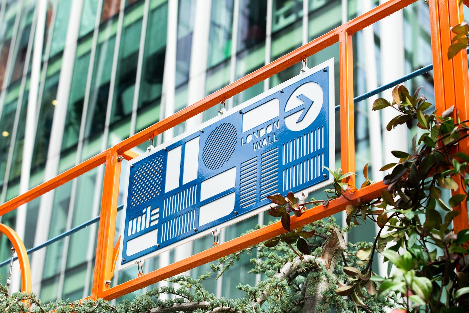 Moor lane community garden signage overhead
