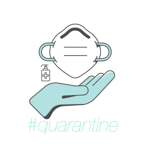#quarantine artwork with mask and gloves