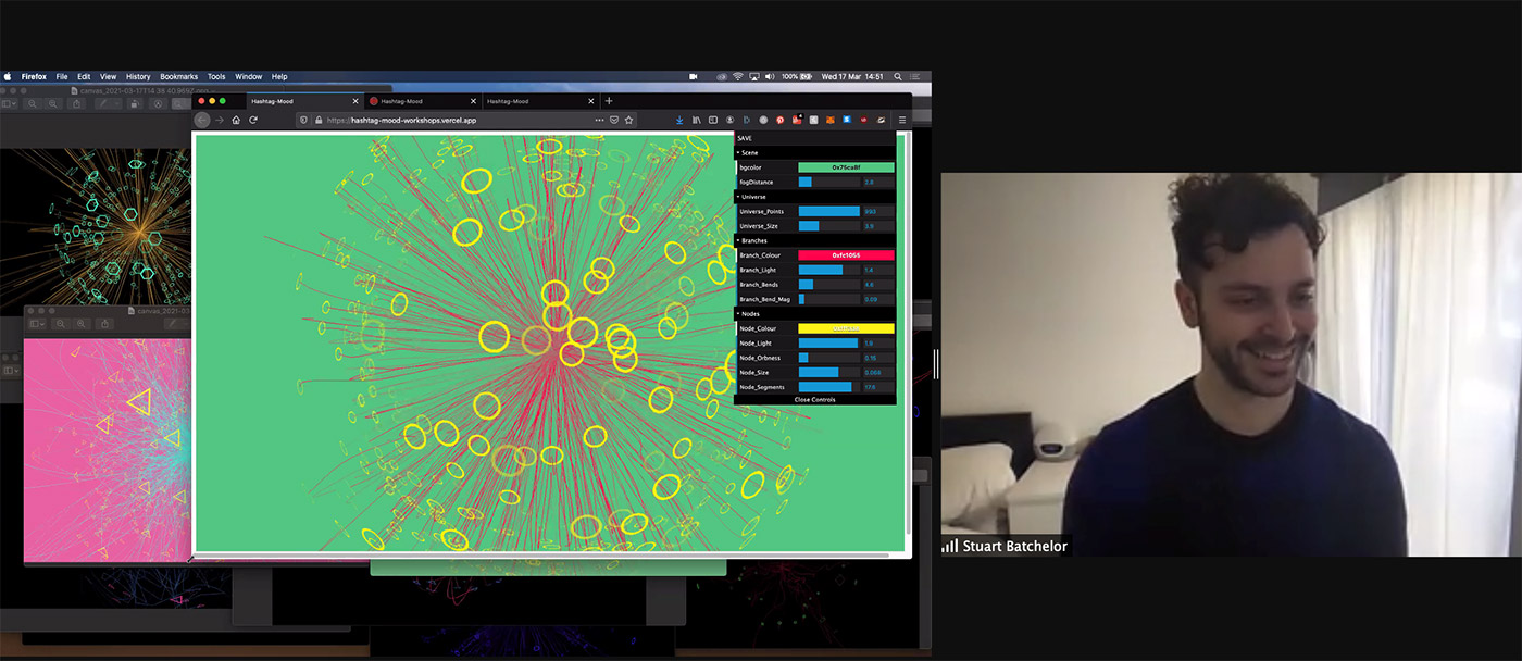 Screenshot of Stuart Batchelor teaching the workshop