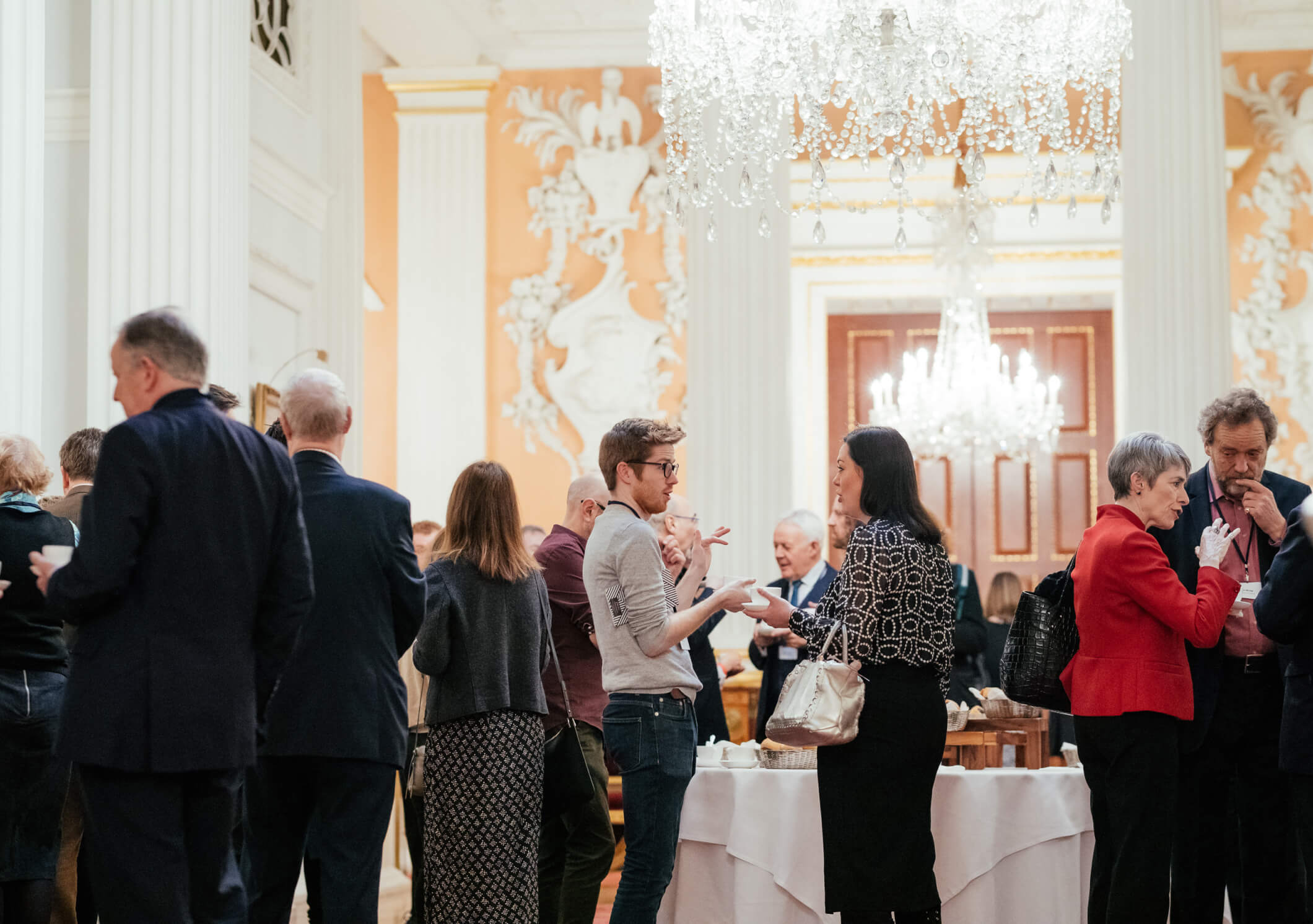 People at a networking event