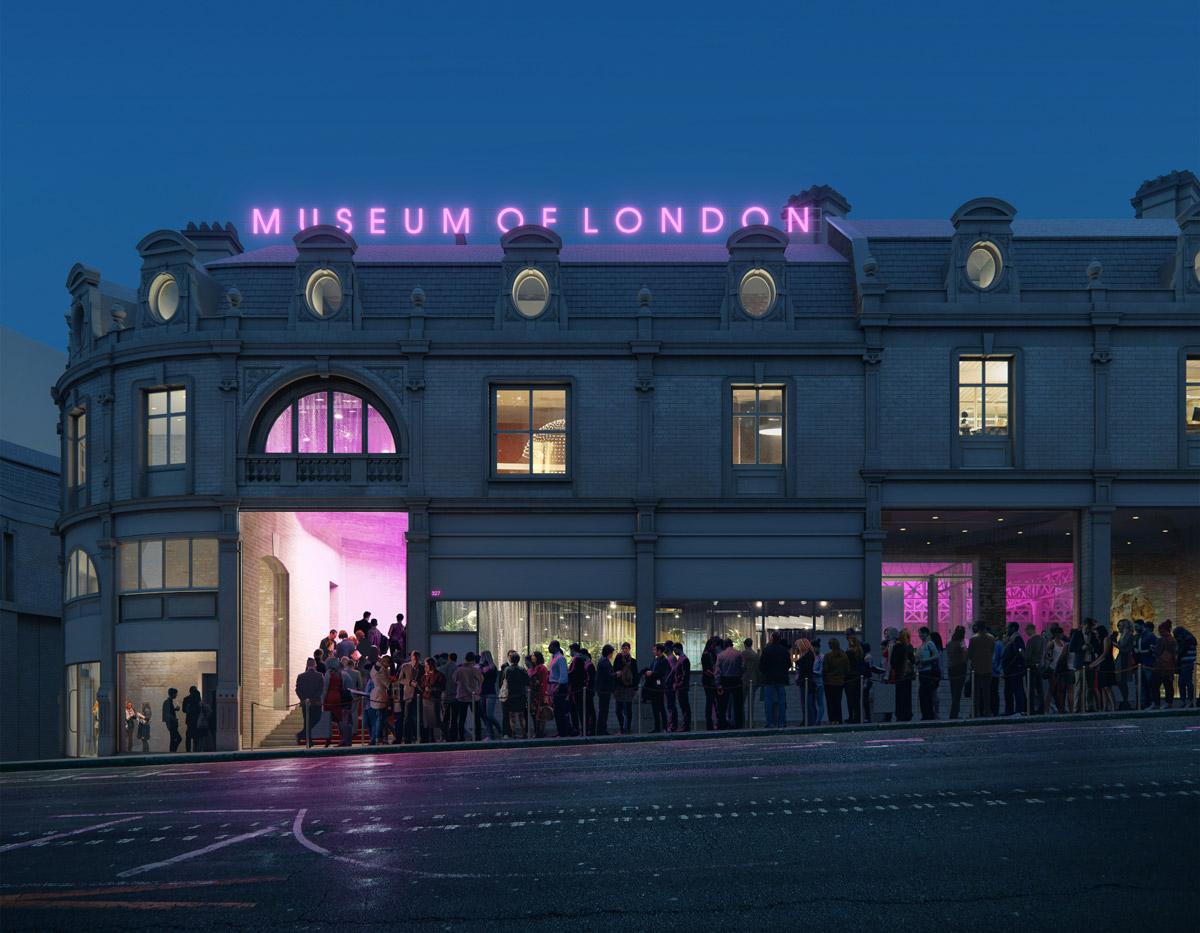 Museum of London CGI by night