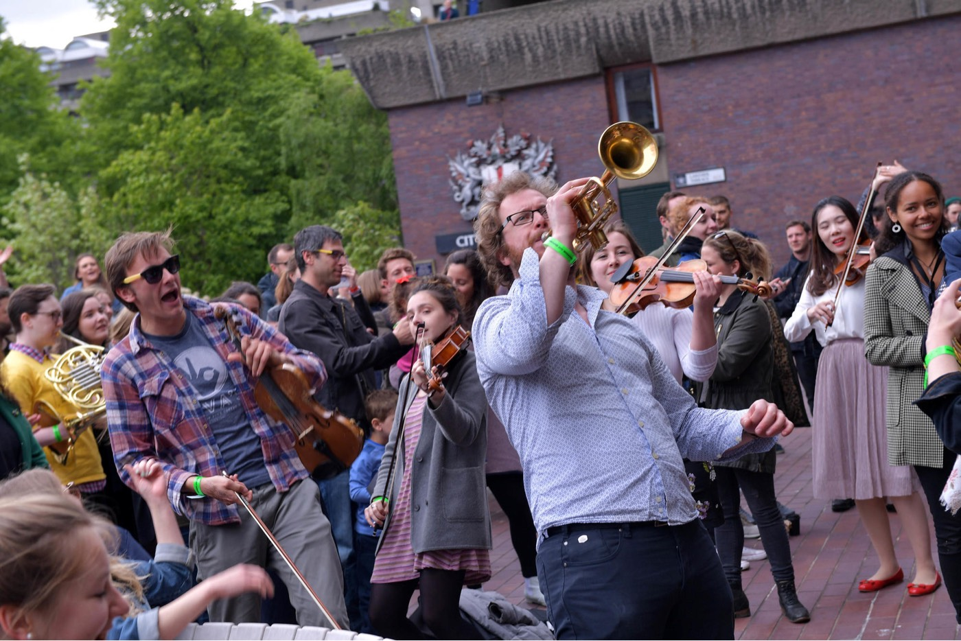 A performance at last years Sound Unbound playing the trumpet.
