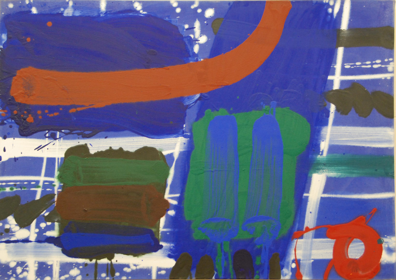 Albert Irvin - Blue