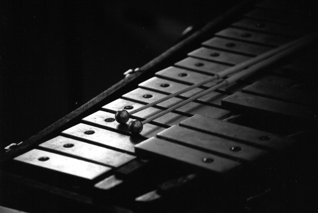Black and white glockenspeil