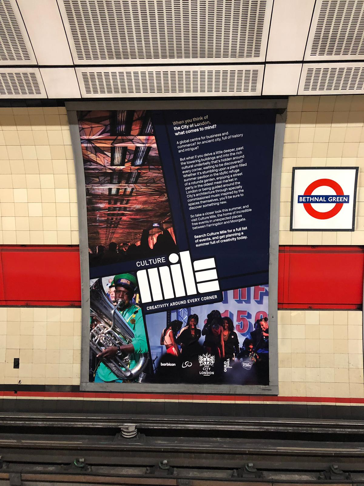 Culture Mile Play the Mile poster on Underground