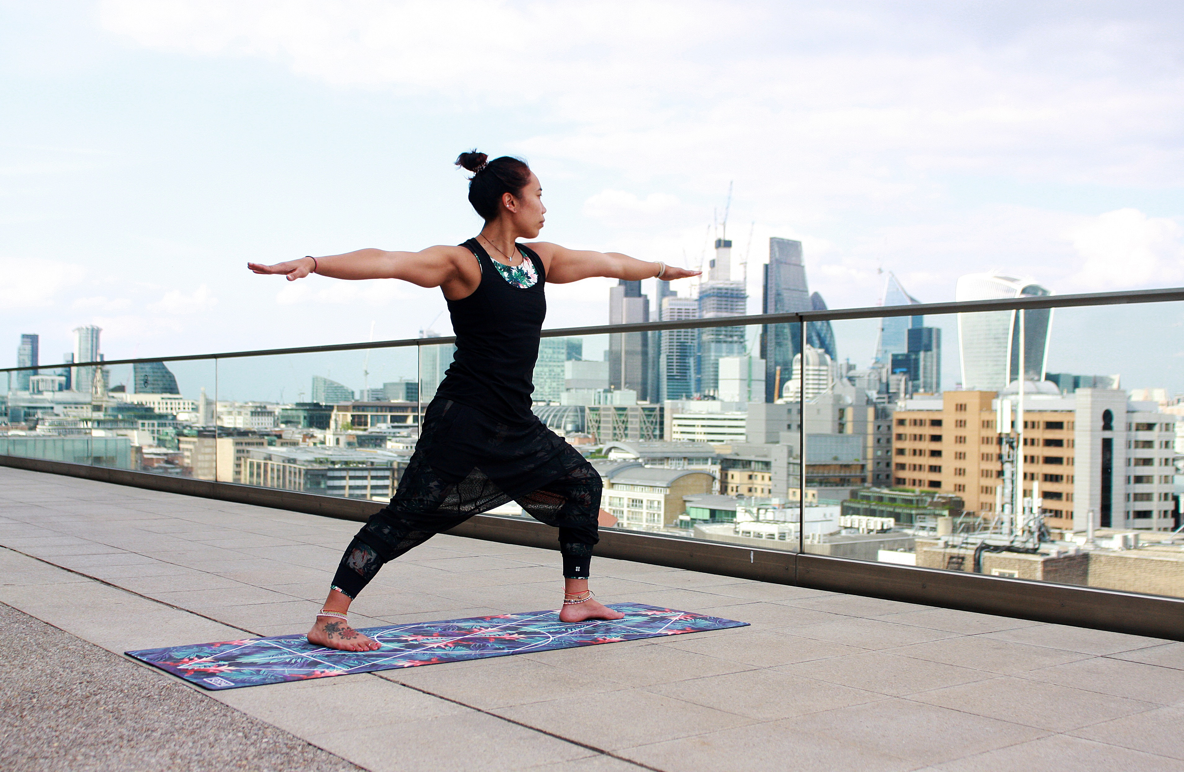yoga on rooftop