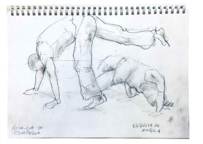 drawing of capoeira