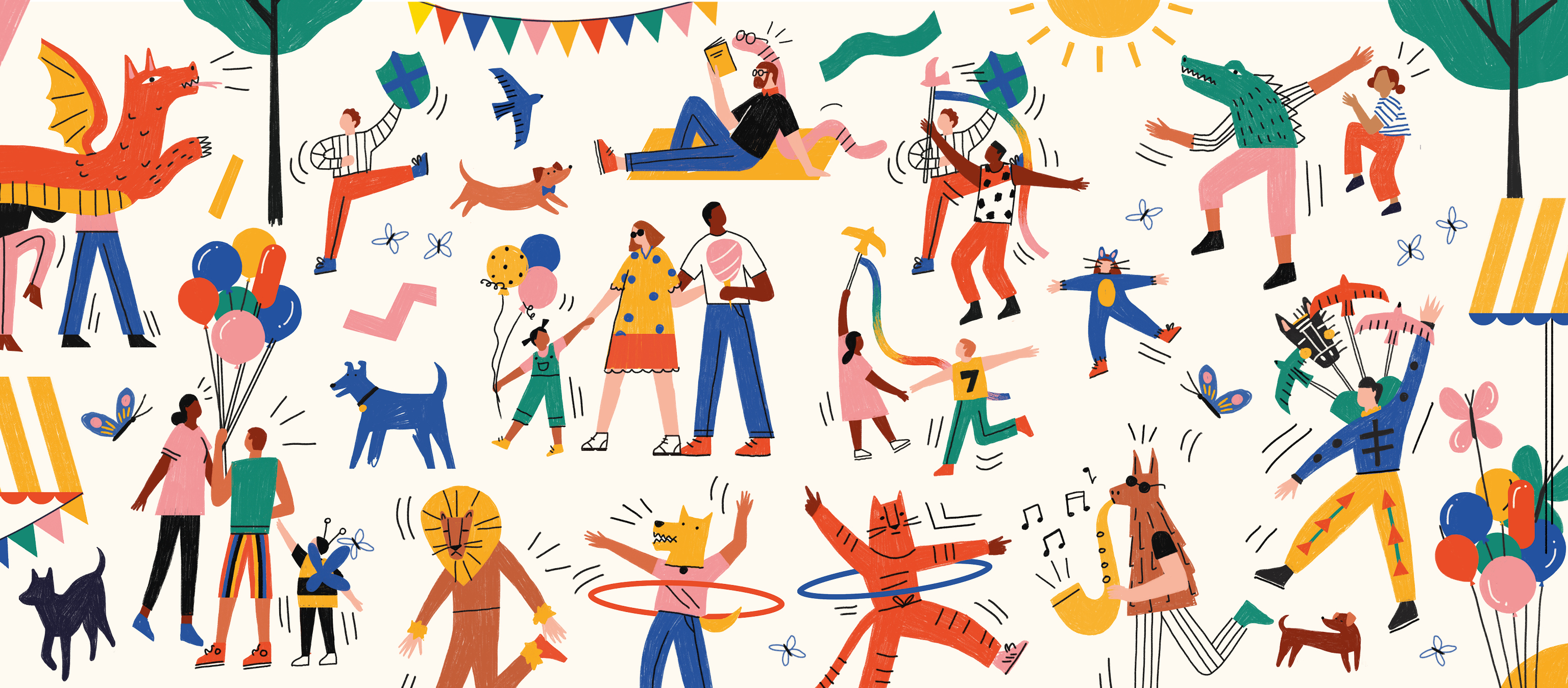Smithfield Street Party illustrations