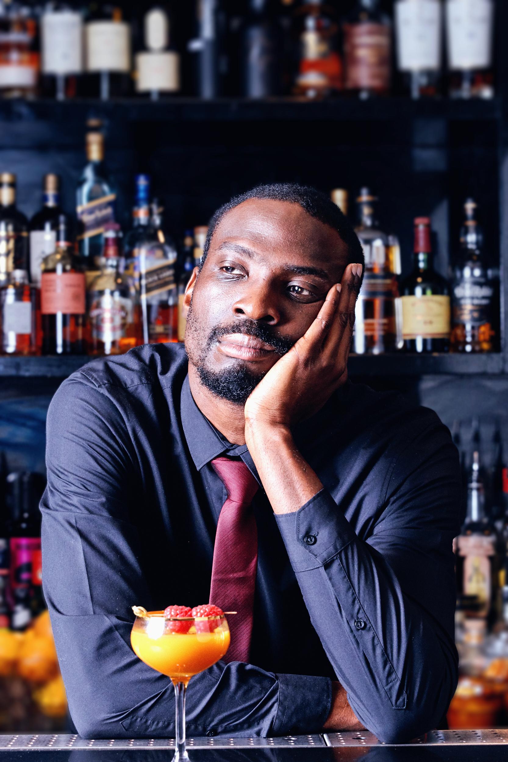 Joshua Idehen behind bar