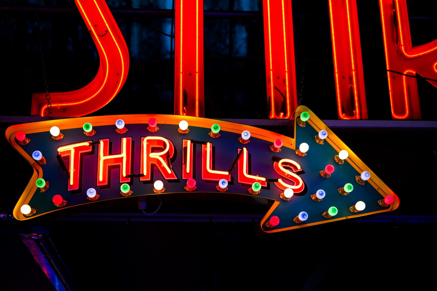 Sign with Thrills in Lights