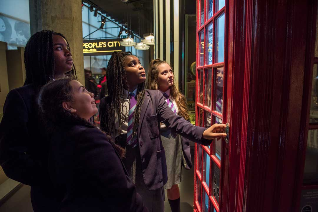 pupils at the Museum of London galleries