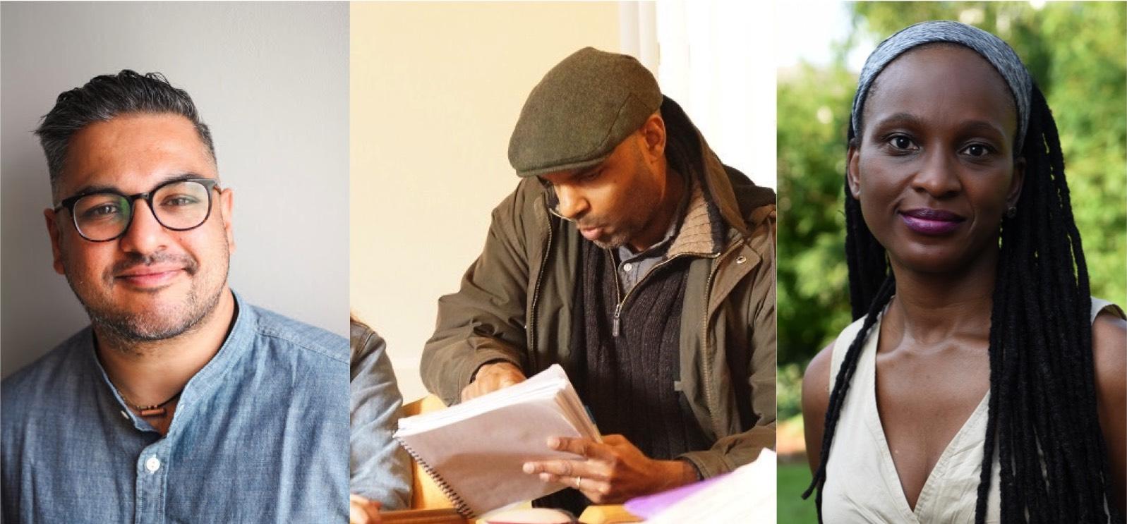 Photos of Nikesh Shukla, Tes Noah Asfaw and Chika Unigwe