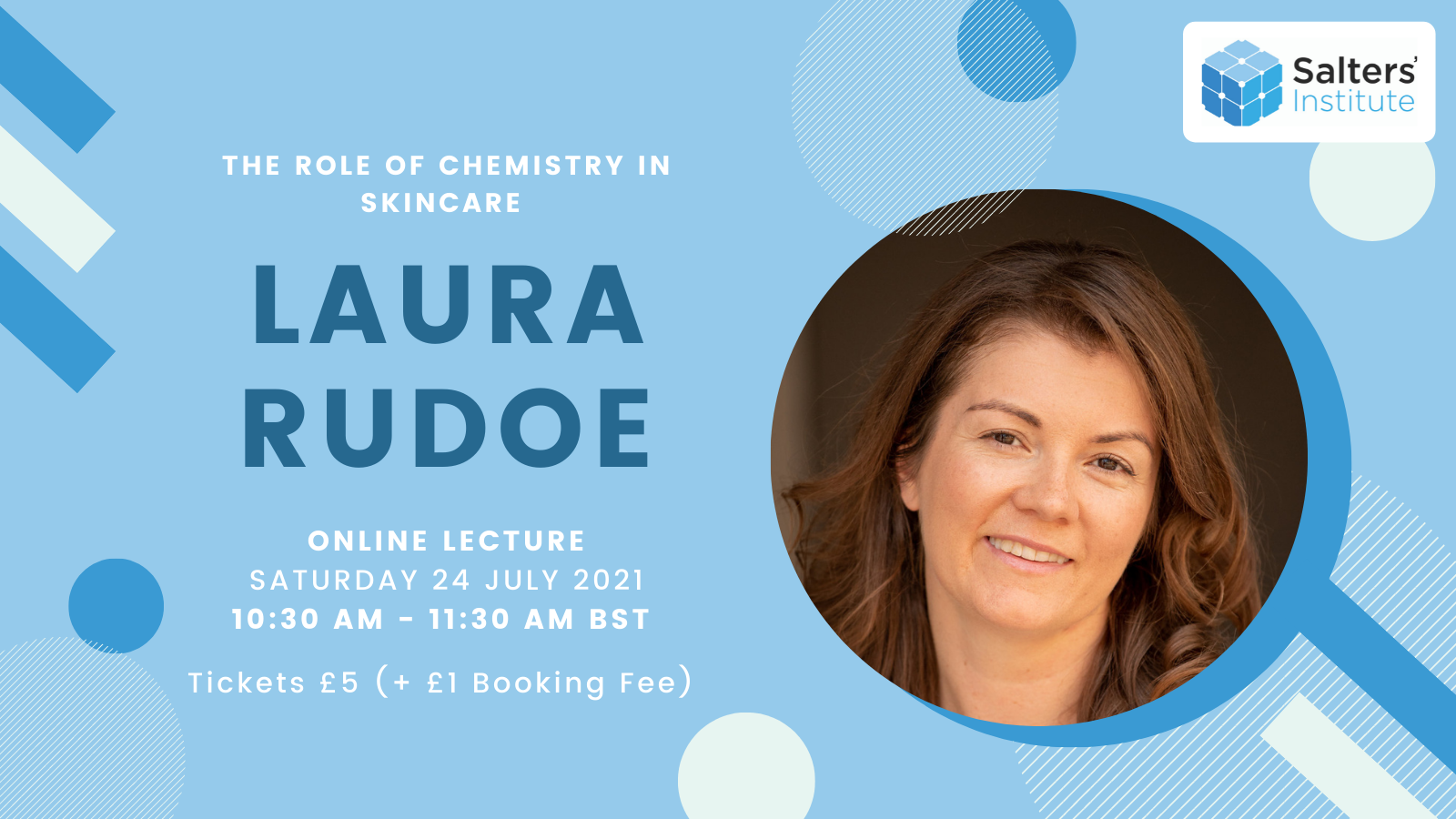 Image of Laura Rudoe with 24th July and 10.30am as event info