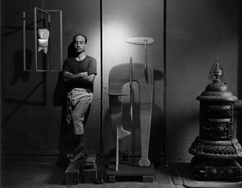 Portrait of Isamu Noguchi by Arnold Newman