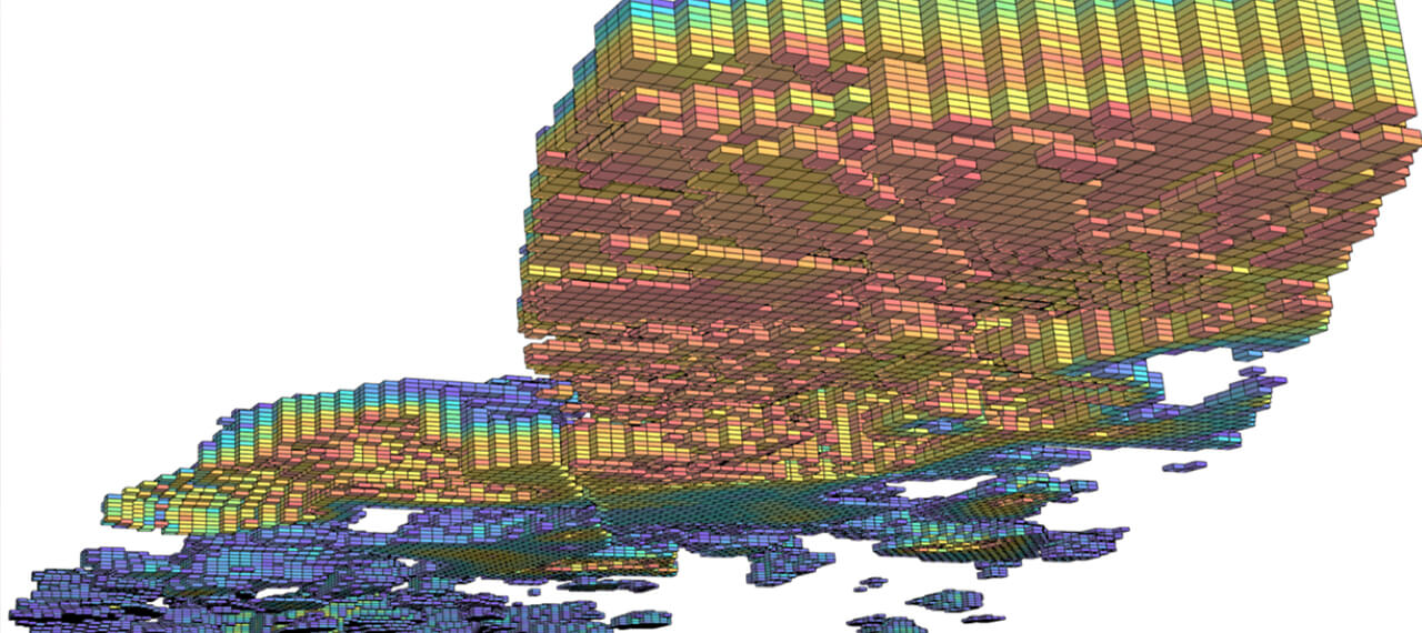 DataCloud's geology visualization in mineportal for digital twin of mining operations for iron ore