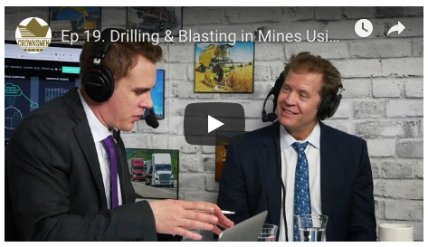 thor kallestad on crownsmen podcast talking drill and blast operations optimization with mineportal and rhino systems digital twins for mining
