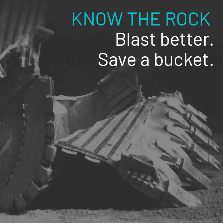 know the rock with better ore body data and save a shovel or a bucket with no overburden after blasting