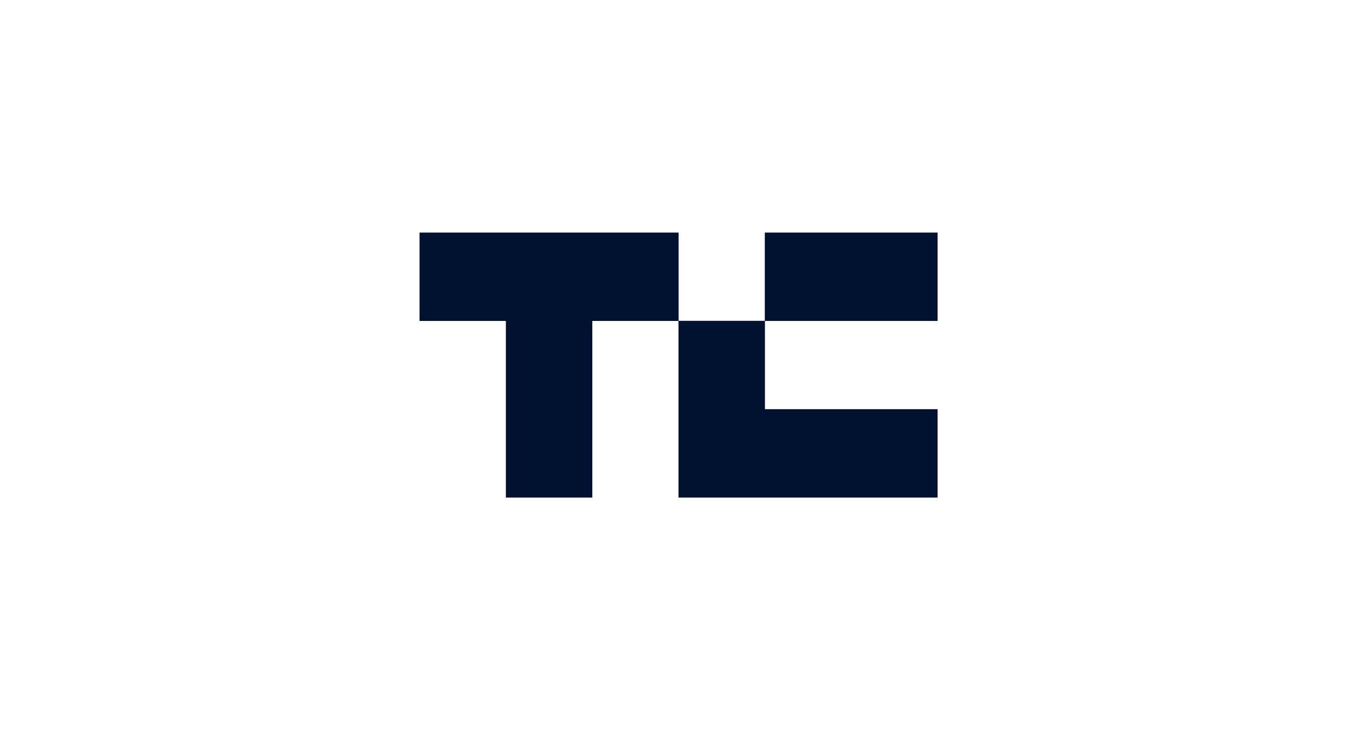 TechCrunch logo in conichi blue