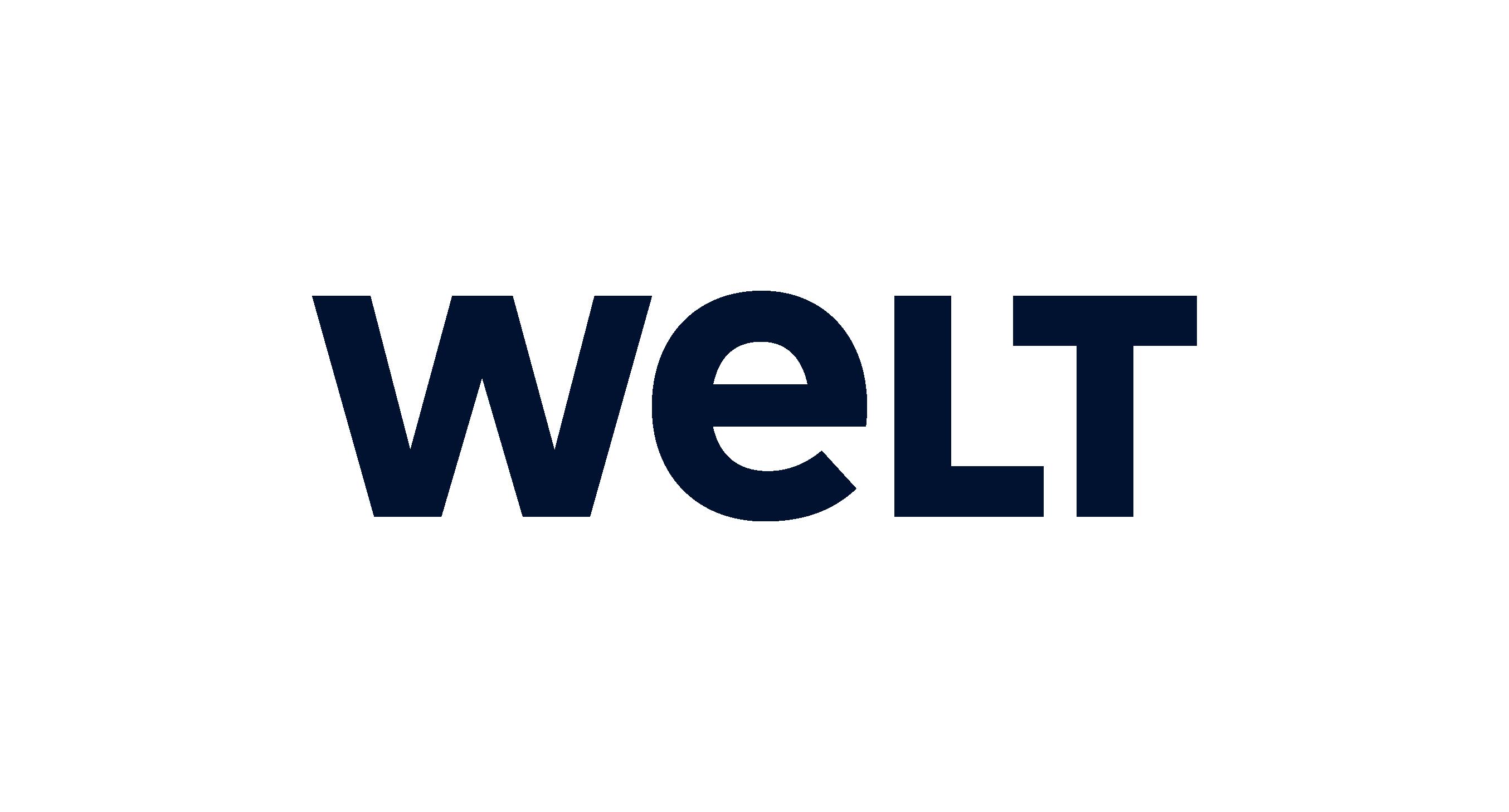 Welt logo blue