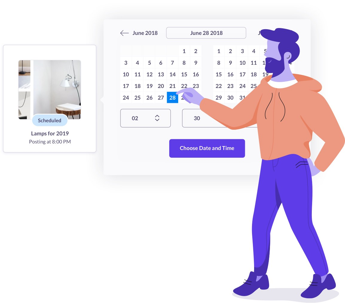 Schedule pages to publish on your own time.