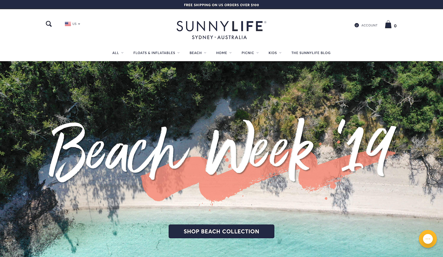 Sunny Life Homepage