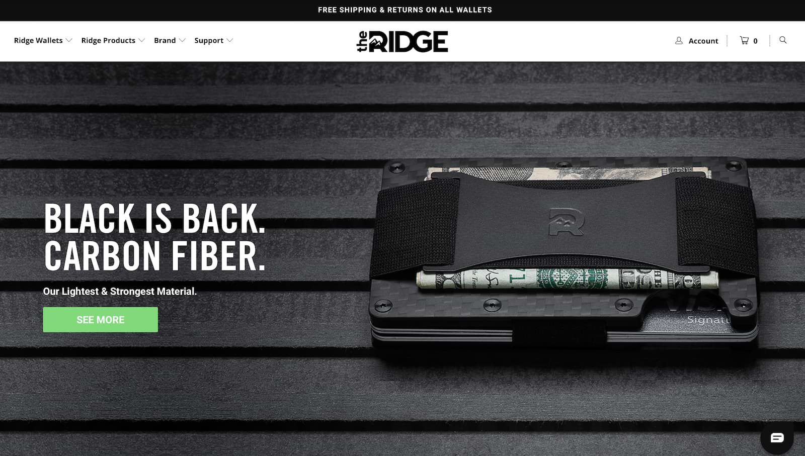Ridge Wallets Carbon Fiber