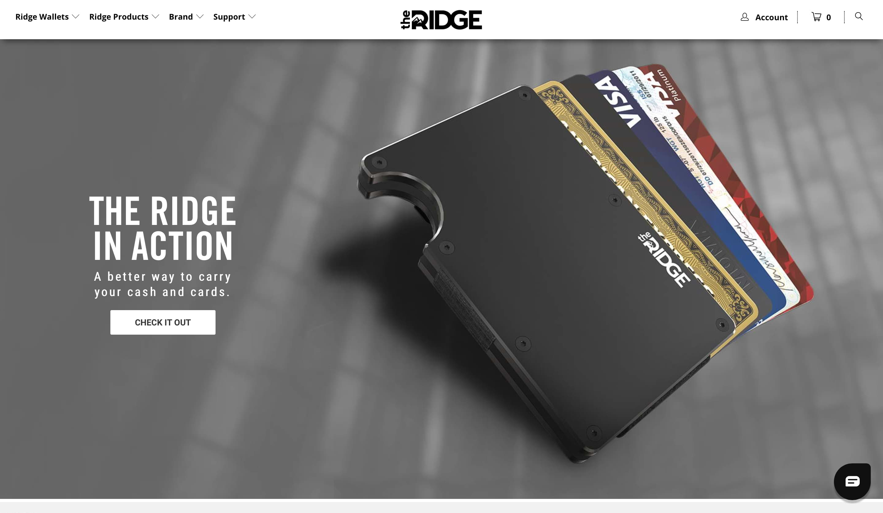 Ridge Wallets Funnel Step 1