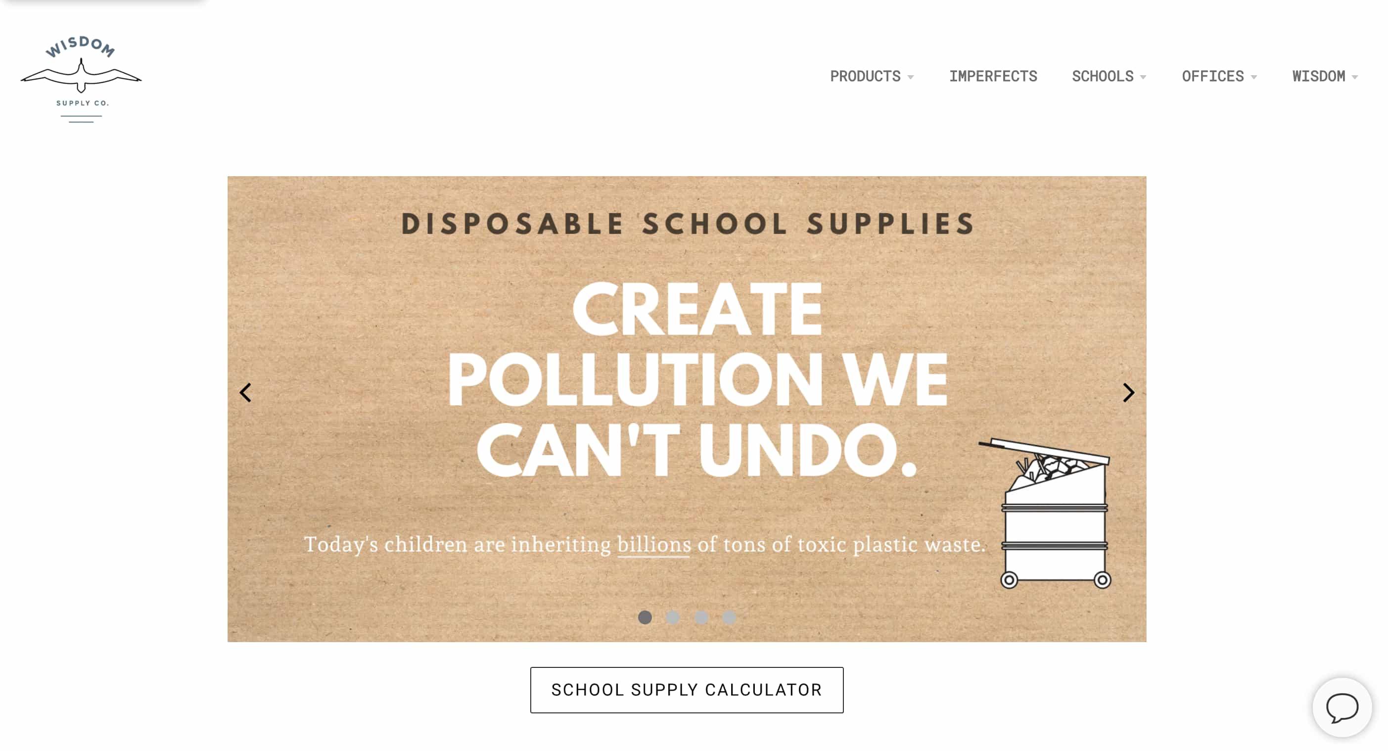 Wisdom Supply Co. Homepage