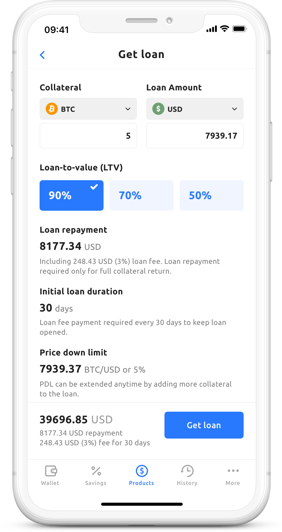 crypto backed loan youhodler