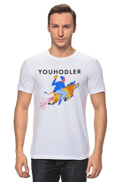 YouHodler 남자 티셔츠 화이트 멀티 호들