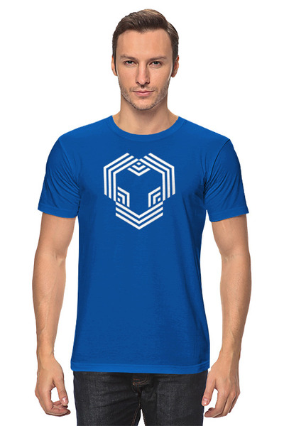 YouHodler 남자 티셔츠 블루