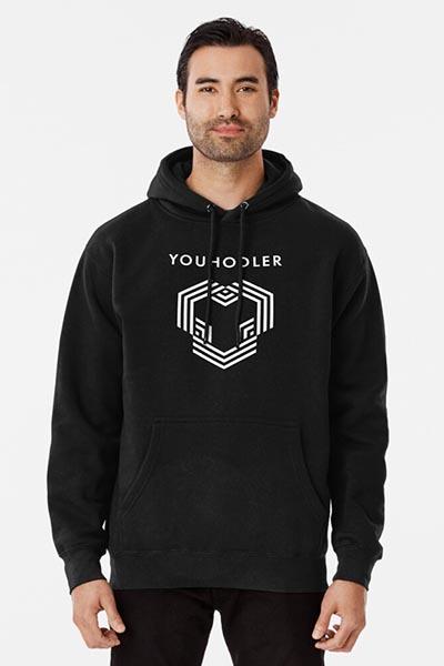 YouHodler hoodie blue