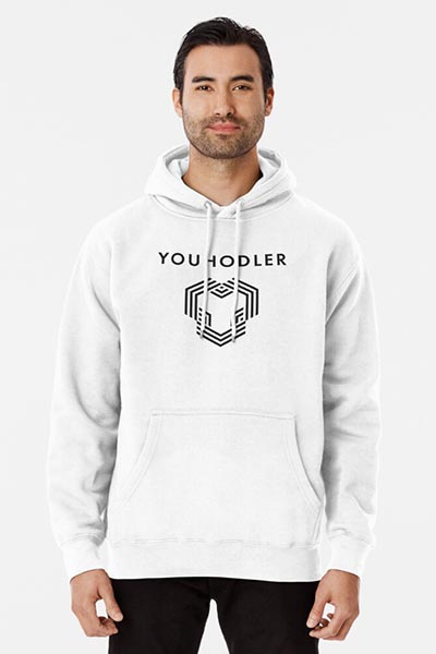 YouHodler hoodie white