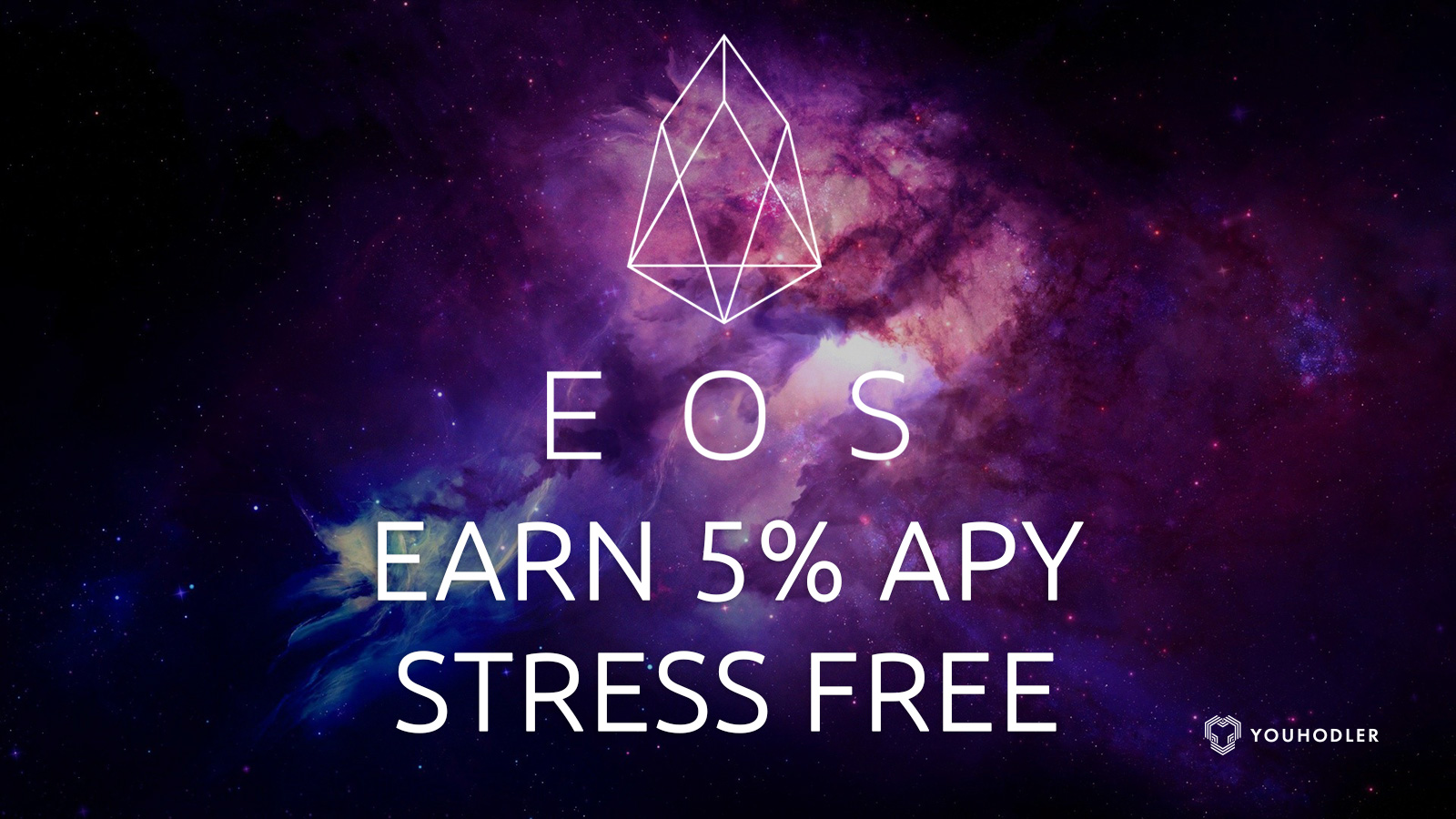 "Picture of the universe with the title saying ""earn 5% APY stress free"""