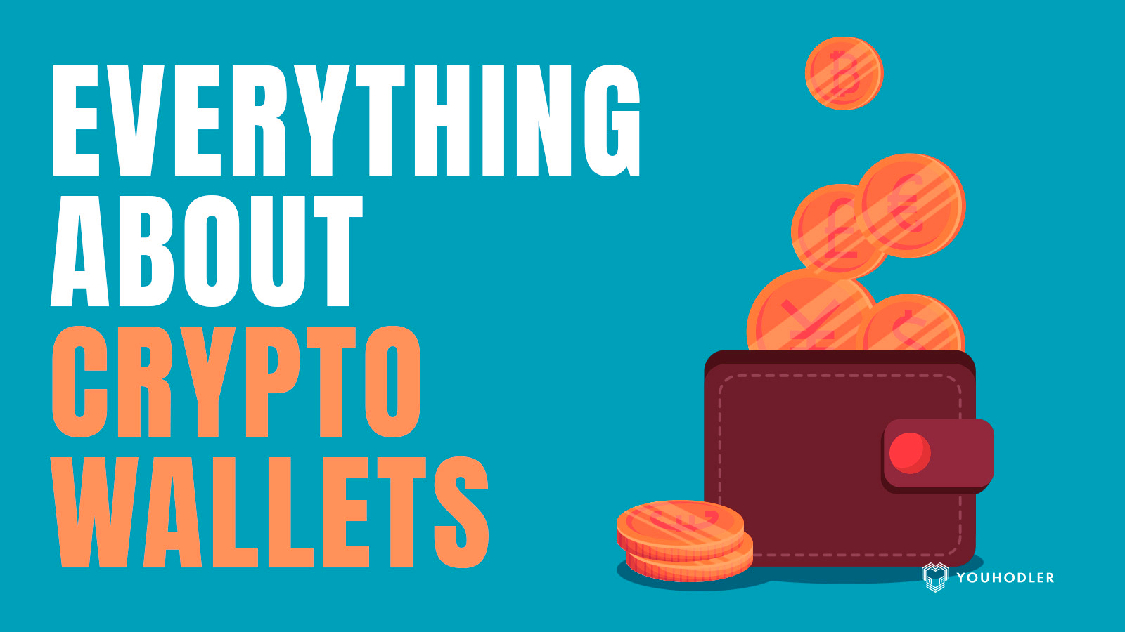 coins filling up a crypto wallet