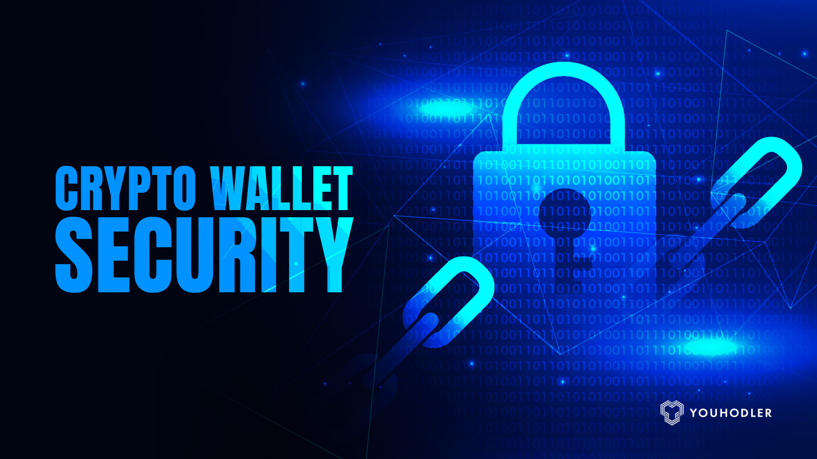 a picture of a lock symbolizes crypto wallet security
