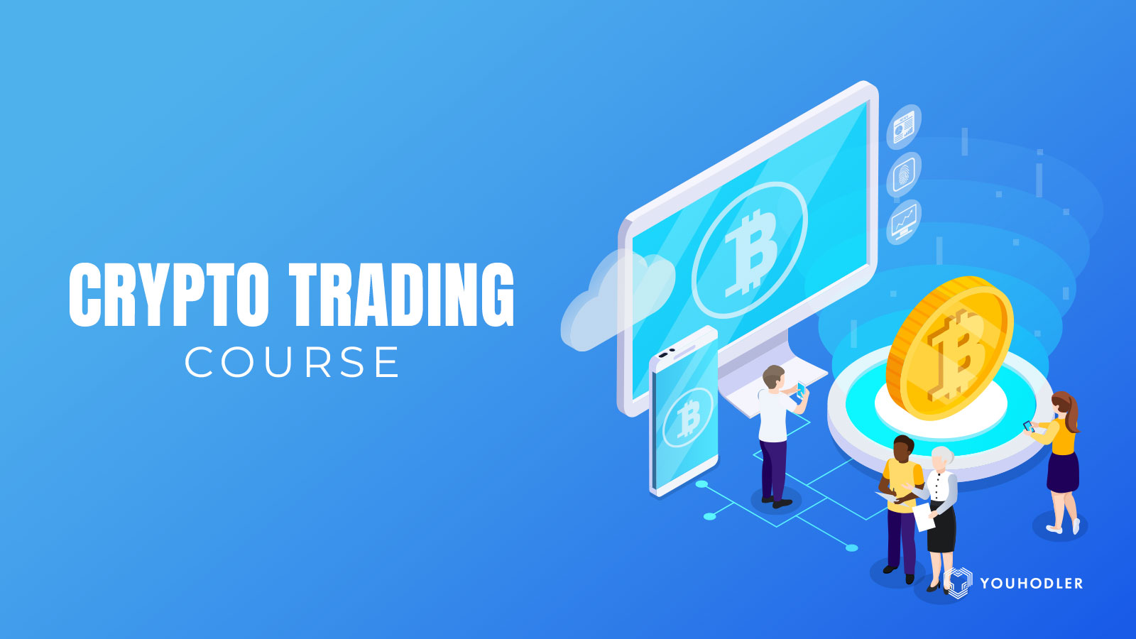 People in class ready for their cryptocurrency trading course