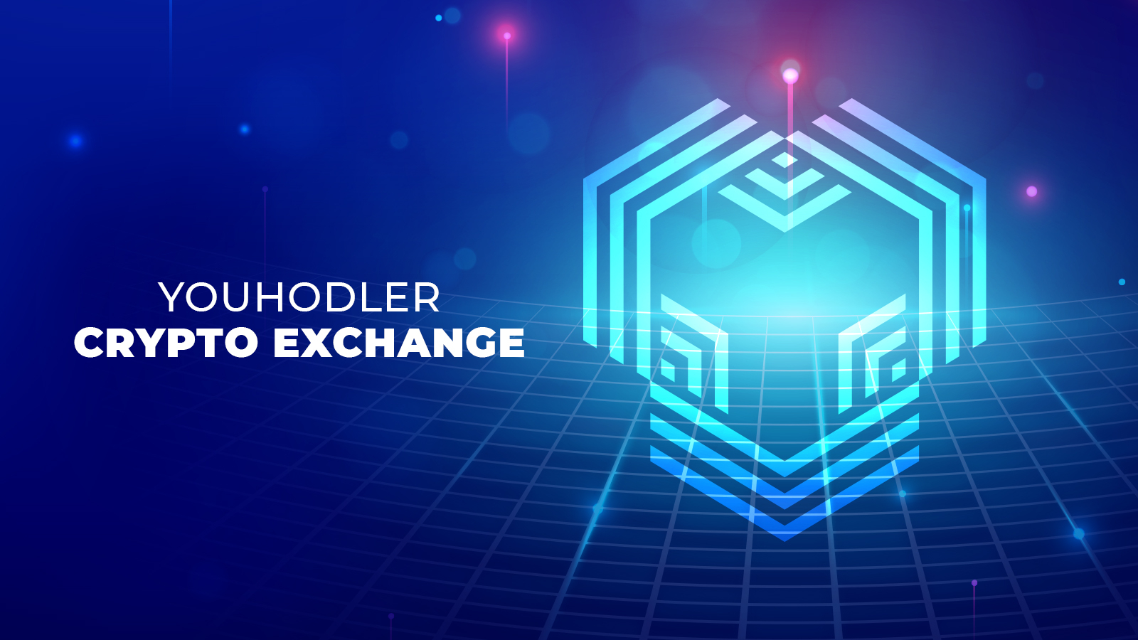 Texting saying YouHodler crypto exchange in a graphic image