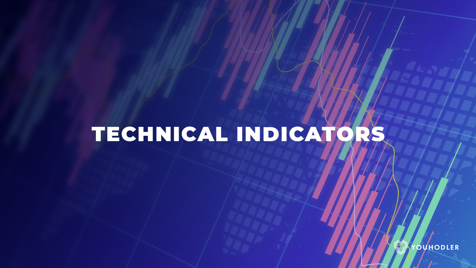 technical indicators reads in big bold letters against a purple backdrop