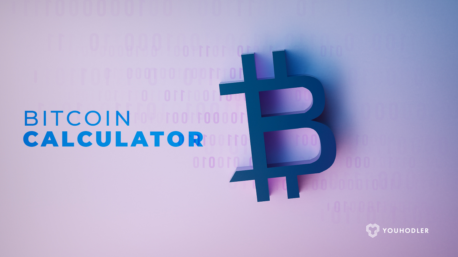The bitcoin calculator logo