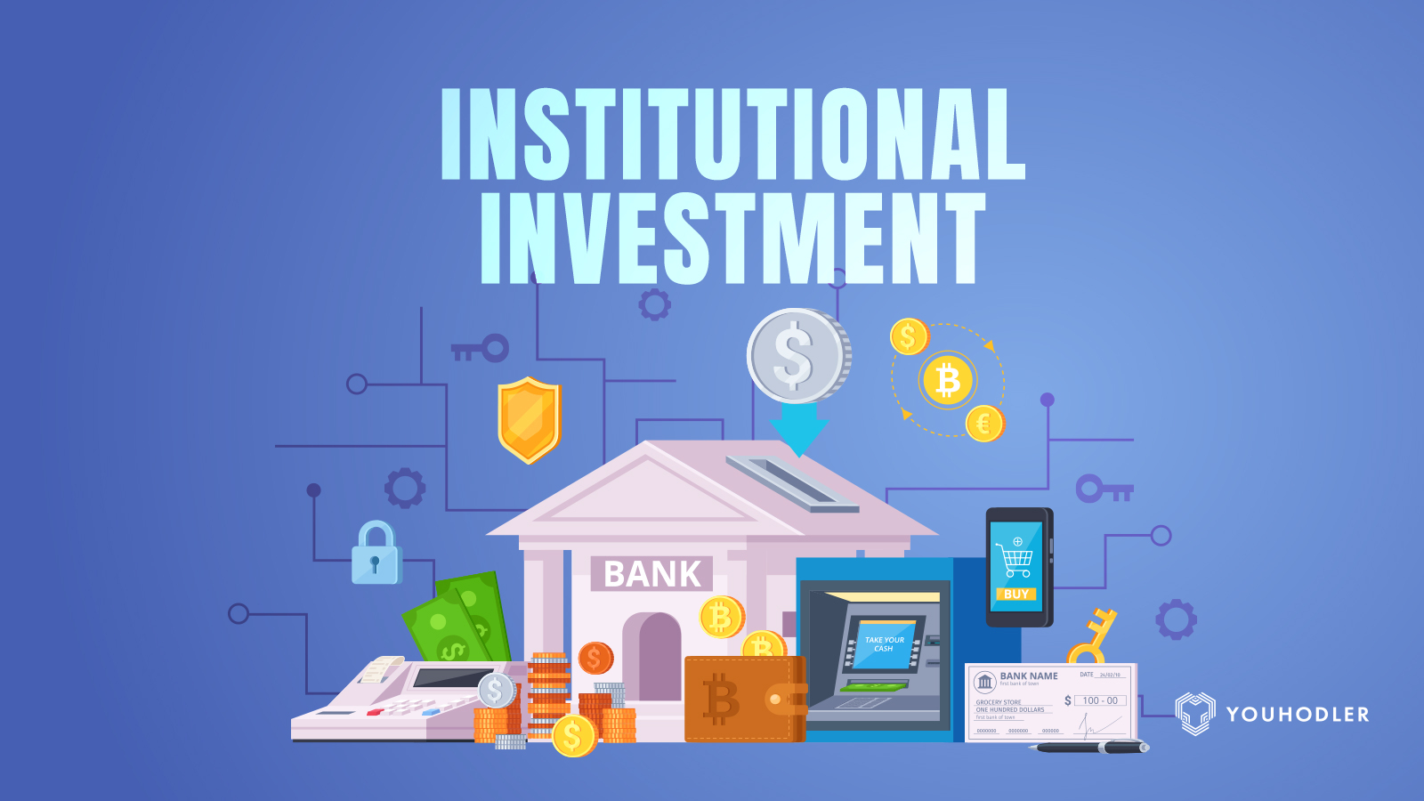 A picture of a bank signifying institutinoal investments entering the bitcoin market
