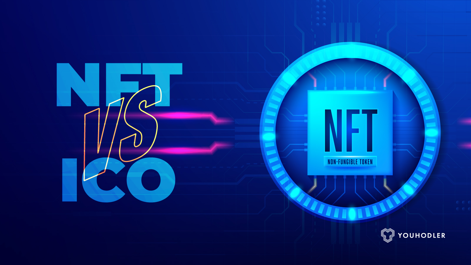 NFT vs ICO logo