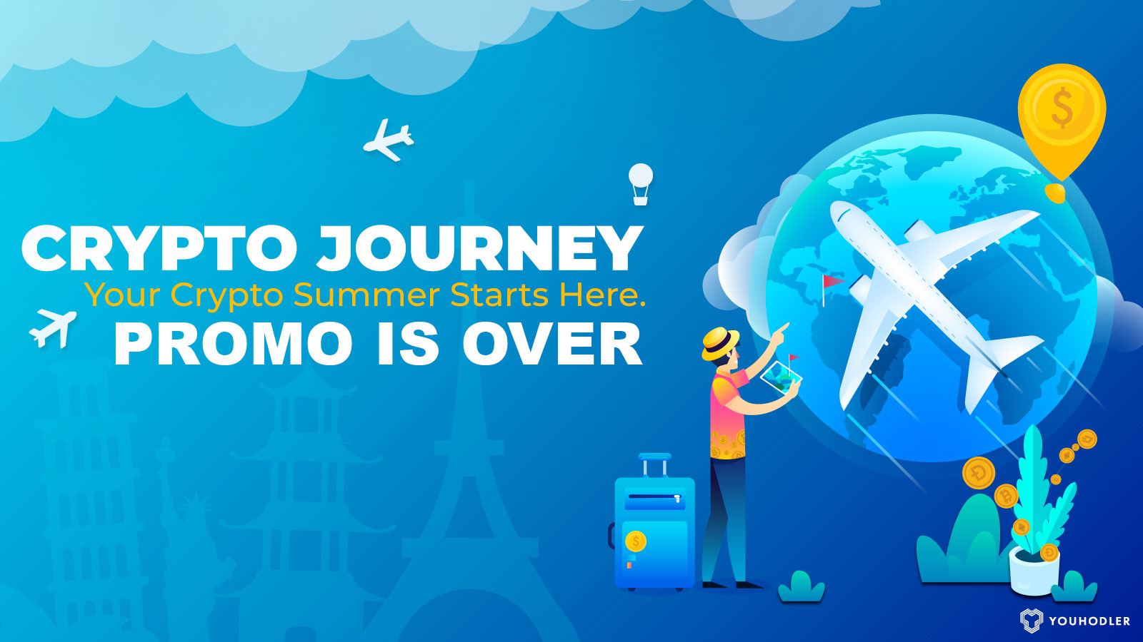 """A plane flies all over the world in a """"crypto journey"""""""