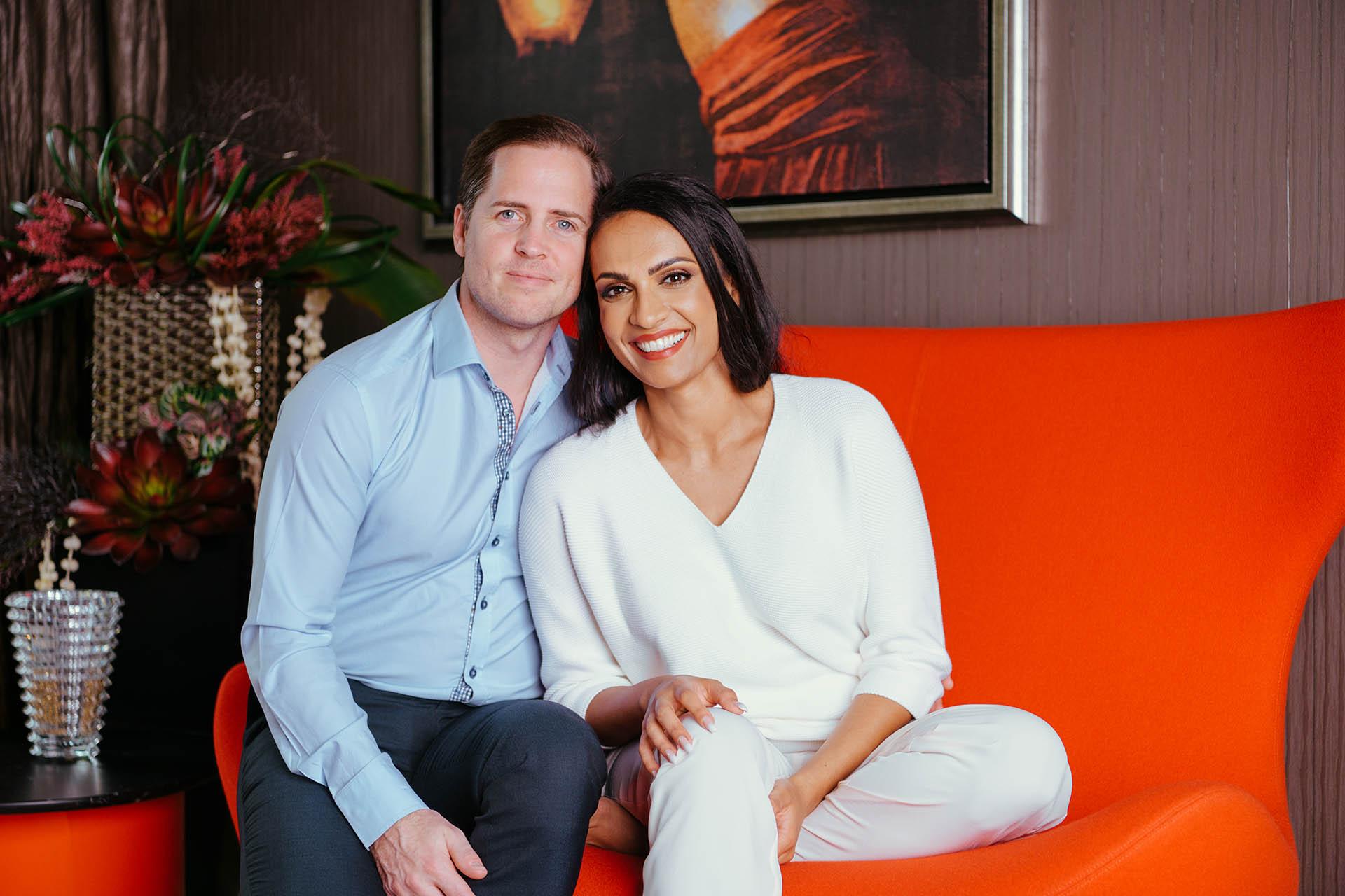 Natasha Rockstrom and husband